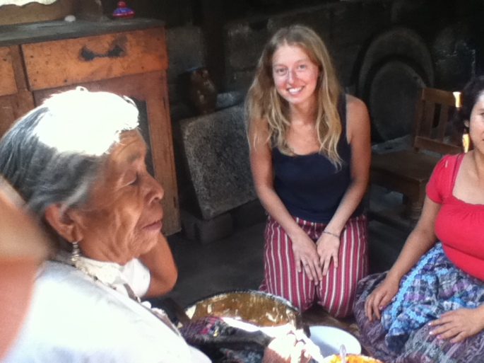 felicia making tamales in guatemala 2013